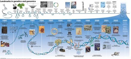 Timeline from a vision for the future of genomics research nature